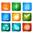 Ecology Icons Watercolor vector image vector image