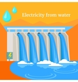 Electricity From Water Design Flat vector image
