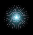 festive firework burst aqua color vector image