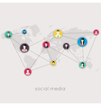 flat icons for social media and network connection vector image vector image