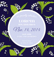 floral wedding invitation template lily flowers vector image