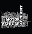 fourteen solid motor vehicle accident insights vector image vector image
