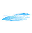 frozen lake flat style landscape vector image vector image