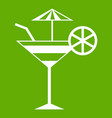 fruit cocktail icon green vector image vector image