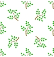 Green Cartoon Tree Leaves Seamless Background vector image vector image