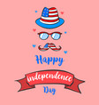 greeting card for independence day style vector image vector image