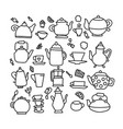 hand drawn doodle tea vector image vector image