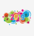 happy new year 2019 chienese new year year of vector image vector image