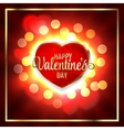 Happy Valentines day Greeting Card and Heart Light vector image