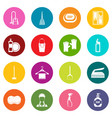 house cleaning icons many colors set vector image vector image