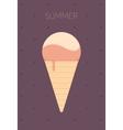 Ice Cream Flat Design vector image