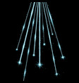 laser beams with stars and sparks aqua color vector image vector image