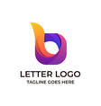 letter b design concept template vector image vector image
