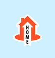 logo with an orange cottage house vector image