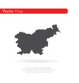 map slovenia isolated black vector image vector image
