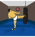 MMA spirit fighter and punching bag vector image vector image