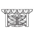 mutule front view vintage engraving vector image vector image