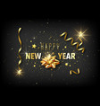 new year greeting card with golden decoration vector image