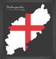 northamptonshire map england uk with english vector image vector image
