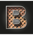 old metal letter b vector image vector image