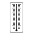 outdoor thermometer icon simple style vector image