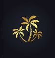 palm tree nature gold logo vector image vector image