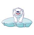 polar bear on iceberg icon cartoon style vector image vector image