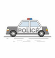 police car isolated on white background vector image