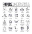 Premium quality future thin line ollection set vector image vector image