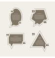 Quote mark speech bubbles set vector image