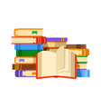 reading paper books flat vector image