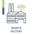 remote factory icon with editable stroke and vector image vector image