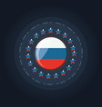 russian flag design vector image