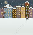 Santa coming to christmas town vector image