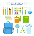 School supplies set vector image vector image