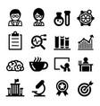 scientist icon set vector image