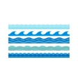 Sea waves pattern set horizontally ocean abstract vector image
