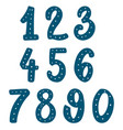 set hand drawn digits design element for vector image
