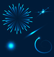 Set of different flares on blue background vector image vector image