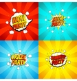 Set of disco party symbols in pop art style vector image vector image