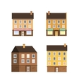 Set of the Houses Small Town vector image vector image