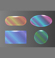 set of transparent pearlescent banners of vector image vector image