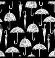 silhouettes of the umbrellas vector image vector image