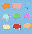 speech bubbles colored doodle symbols vector image