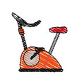 Stationary spinning bike exercise equipment icon vector image