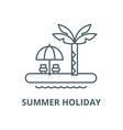 summer holiday line icon linear concept vector image vector image