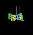 the word brazil hang on the ropes vector image
