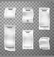 till receipts different length realistic set vector image vector image