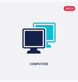 two color computers icon from computer concept vector image vector image