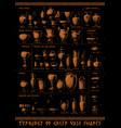 typology greek vase shapes vector image vector image